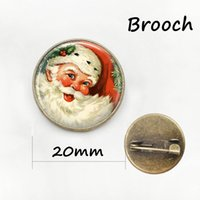 Wholesale Women Dressed Santa Claus - Santa Claus jewelry Christmas gift for men and women Dress Accessories brooches New Year gift Vintage Handmade