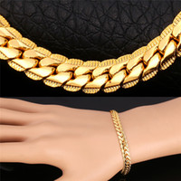 Мужские золотые браслеты 6MM / 9MM Chain Rose Gold / Platinum / Black Gun / 18K Gold Plated Curb Link Chain