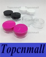 Wholesale Lips Nail Art Decals - 5ML 5Gram Size Transparent Plastic Jars Mini Cosmetic Empty Sample Clear Pot Acrylic Make-up Eyeshadow Lip Balm Nail Art Container Bottle