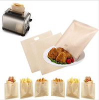 Wholesale Toaster Bags Wholesale - 16*16.5CM Reusable Toaster Bags Safe Non Toxic BBC Microwave Oven Bag Not Sticky Toast Poke Toastabags Make A Perfect Toasted Sandwich