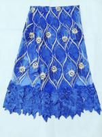 bordado de encaje suiza al por mayor-Malla de alta calidad de encaje francés telas de bordado tela de encaje de organza africana Alta calidad suizo Voile Lace en Suiza