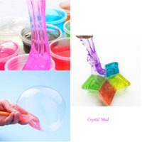 Wholesale Play Day - 5 Pcs lot Pretty Baby Festival Novelty children toy slime DIY Non-toxic Crystal Mud Play Transparent Magic Plasticine April fools day Hallo
