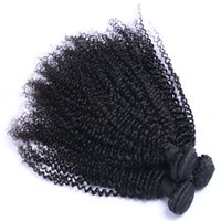 Hot Sell Wholesale Unprocessed Brazilian Peruvian Kinky Curly Remy Virgin Extensões de cabelo humano Cabelo Weave Natural Color Frete Grátis