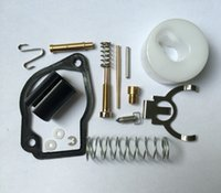 Wholesale garden valve resale online - 2 X Carburetor repair kit for Robin NB411 EC04 trimmer BG411 carb rebuild float pin screw gasket needle valve spring overhault