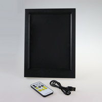 Wholesale Wedding Cards Photos - 7 RGB Lights LED Photo Frame IR Remote AAA Battery or DC 5V Factory Wholesale Free DHL Shipping