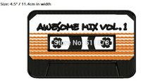 4.5 «Хранители галактики Awesome Mix Vol. 1 Movie TV Series Costume Вышитое железо на патче Tshirt TRANSFER APPLIQUE