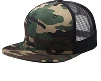 Wholesale Wholesale Camo Mesh - 2017 Top Sell Blank mesh camo Snapback Hats Women Baseball Caps camouflage hip hop mens Casquettes bboy gorras bones Solid color