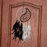 antiguos figurines de colección al por mayor-Dream Catcher Antique Imitation Enchanted Forest Dreamcatcher Hecho a mano Dream Catcher Net With Feathers Decoración de pared colgante Ornamento