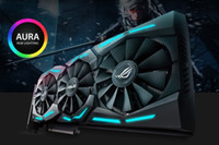 ROG-STRIX-GTX1080TI-O11G-GAMING GTX 1080 Ti 11GB OC Edition VR Ready 5K HD Gaming HDMI DVI Разгон видеокарты GDDR5X Aura Sync RGB