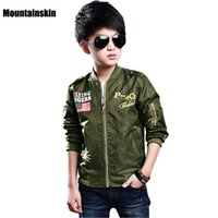 Wholesale Sleeveless Jacket For Boys - New Fashion Kids Jackets For Boys Bomber Coats Spring 3-13Y Children's Jackets Sports Outwear Brand Kids Clothes Windproof SC760