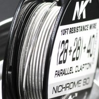 Free shipping NK premium dual fused clapton Nickel chrome 80 electric wire 28ga 40ga round wire for vape mod