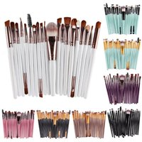 Wholesale 22 Makeup Brush Set - 22 colors Cosmetic Makeup Brushes Set Powder Foundation Eyeshadow Eyeliner Lip Brush Tool Brand Make Up Brushes 20 pcs set brush