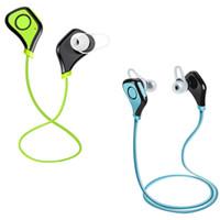 беспроводной наушник для ipad оптовых-Bluetooth стерео беспроводная гарнитура наушники красочные новые наушники-вкладыши наушники с микрофоном для IPHONE Ipad мини 4 и Mp4