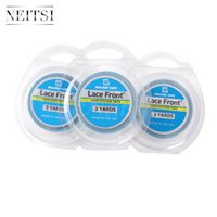 Wholesale Lace Front Glue Wholesale - Neitsi 3Roll 1.9cm Double Sided 3 Yards Lace Front Support Tape Roll- Blue# USA Walker Adhesives Super Glue Tape For Hair Extensions