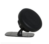 soporte para teléfono móvil pegajoso al por mayor-\ Soporte universal para teléfono magnético giratorio de 360 grados para tablero de instrumentos Soporte adhesivo para teléfono móvil de montaje adhesivo para iphone para Samsung