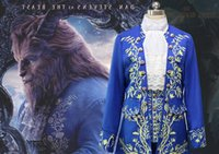 Wholesale Costume Beast - Hot Top custome made Beauty and the Beast Prince Theme costume The Halloween Saint's day the Beast costplay set (jacket vest collar pants)