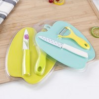 Wholesale kitchen utility knife set - Vegetable Fruit Knife Kitchen Tool for Gift with Peeler 2 In 1 Kitchen Apppliances Sets Paring Utility Color Box Packing Dining Accessories