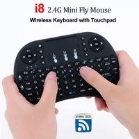 i8 hava fare toptan satış-I8 2.4G Hava Fare Kablosuz Mini Klavye ile Touchpad Uzaktan Kumanda Gamepad Media Player Android TV Box HTPC için MXQ Pro M8S X96 Mini PC