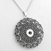Wholesale Vintage Women S Necklace - 2016 Vintage Round 18mm Snap Button Necklaces Woman Bohemian Necklaces &Pendants Beads Women 'S Neck Ne415 One Direction