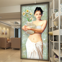 Wholesale Traditional Sexy Painting - Custom Wall Murals Sexy Girl Beauty Fresco Beauty European oil painting Home living room corridor Decoration Custom Wall Murals