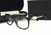 strahlenschutzbrillen großhandel-Italien Luxus Designer Mode Perle sunglassess Für Frauen Lesen Strahlenschutz Rahmen Eyewear Klare Linse Brillen
