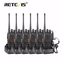 Venda por atacado - 6pcs Retevis H777 Handheld Radio Walkie Talkie UHF 400-470MHz 16CH Portable Ham Radio Hf Transceptor Handy Two Way Radio Station