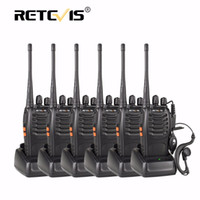 Wholesale Uhf Portable Transceiver - Wholesale- 6pcs Retevis H777 Handheld Radio Walkie Talkie UHF 400-470MHz 16CH Portable Ham Radio Hf Transceiver Handy Two Way Radio Station