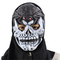 Nuove maschere horror di Halloween White Skull Skeleton Horror Party Spaventoso maschera Cosplay Prop Fancy Dress Decor