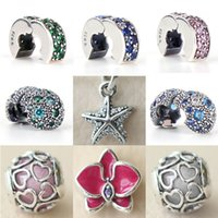 Wholesale Pandora Cross Charm New - 2017 Summer NEW Cosmic Stars, Multi-Colored Crystals CZ Clip Charm 925 Sterling Silver Jewelry Making For Women's Fashion Pandora Bracelet