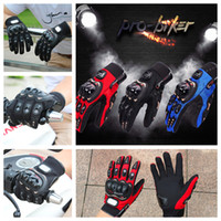 Wholesale biker leather wholesale - Pro-Biker Motorcycle gloves Luva Motoqueiro Guantes Moto Motocicleta Luvas de moto Cycling Motocross gloves 01C Gants Moto DHL free