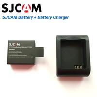 Wholesale desktop battery charger - Wholesale- SJCAM Brand Accessories Battery and Battery Desktop Charger For SJ CAM SJ4000 SJ5000 M10 Series Action Sport Camera