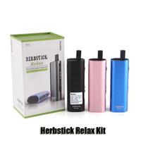 Wholesale E Cigarette Mod Herb - 100% Original Herbstick Relax Kit 2800mAh TC Dry Herb Vaporizer Mod Herbal Vaporizers E Cigarette Vape Pen