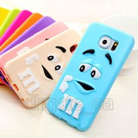 Fall für iphone 7 tpu fall mm schokolade regenbogen bohnen silikon cartoon case gummi fällen für apple iphone 6 5 s 7 plus galaxy s6