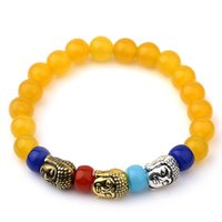 Wholesale turkish chain - 2017 Natural Stone Buddha Charm Bracelets With Stones Beads Bracelets For Women Men Silver Turkish Jewelry Pulseira Masculina