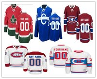 Wholesale Mens C - Stitched Custom Montreal Canadiens mens womens youth Customized Away White Winter Classic third C Blue Home Red CH CD hockey Jerseys S-4XL
