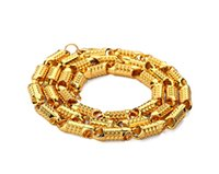Wholesale Golden Thick Necklaces - Hiphop 18K Golden Plating Necklace Chain Hip-hop Personality Super Thick Necklace Jewelry Men Women Wholesale Jewelry From China