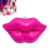 Wholesale Toy Pacifiers - Wholesale- Baby Cute Toys Kiss Style Kids Baby Dummy Soother Lip Prank Infant Pacifier Rose Red FL