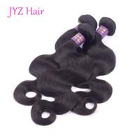 peru saç ürünleri vücut dalgası toptan satış-3 Adet İnsan Saç Atkı Vücut dalga Brazillian Perulu Hint Malezya Saç Ürünleri Işlenmemiş Vücut Dalga Virgin İnsan Saç Uzantıları