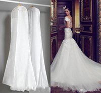 A buon mercato abito da sposa borse borse sacchetto di polvere bianca  custodia da viaggio coperture antipolvere accessori da sposa per brid  indumento ... e82dbe99a85