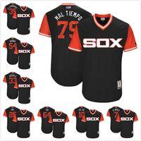 Wholesale Black Red Yoyo - Chicago White Sox Mal Tiempo El Chamaquito Avi Juego G Bubba DH B. Moss YoYo 2017 Little League World Series Jersey Black