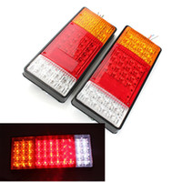 Wholesale led light kits for boats - 2x 44 LED Indicator Tail Light UTE Boat Trailer Truck Van For Camper Waterproof Kit