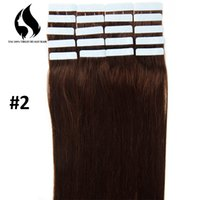 Wholesale Hair Extension Tape Wholesale Price - Wholesale Dark Color Tape In Hair Extentions Hot Sale Cheap Prices Good Quality Non-Remy Human Hair Blue Tape in Hair Extension