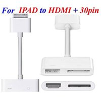 Wholesale Dock Connector Hdmi Adapter - Digital AV HDMI Adapter cable Dock Connector to HDMI 1080P TV AV Adapter Cable for apple iPhone 4 4s iPad 2 3 Free Shipping 10ps