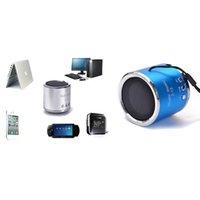 altavoz micro reproductor de mp3 al por mayor-Al por mayor-Mini altavoz inalámbrico portátil mini altavoz FM Radio USB Micro SD TF tarjeta reproductor de MP3 Altavoces portátiles para el teléfono