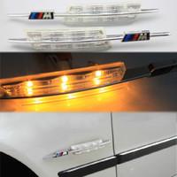 gelbe led-blinker großhandel-2017 neueste M Perfomance Kristall schwarz objektiv blinker Licht LED Seitenmarkierungs-ablenkungslampe für BMW E60 E61 E81 E82 E87 E88 E90 E91 E92 E93