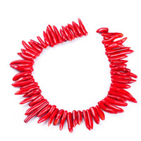 Wholesale Black Coral Loose Beads - 1pack lot High quality irregular Red chili Coral loose beads DIY for bracelet necklace jewelry making