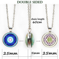 Wholesale Glass Symbols - Annuit Coeptis Necklace Egypt Pyramid Jewelry Eye Of Providence,All Seeing Eye,Masonic Symbol Choker Double Face Glass Pendant