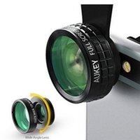 Wholesale Optic Camera - AUKEY Mini Clip-on Optic Cell Phone Camera Lens Kit 180 Degree Fisheye Lens + 110 Degree Wide Angle + 10x Macro Lens