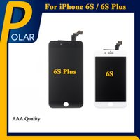 Os melhores painéis de tela LCD para iphone 6S iPhone 6S Plus Touch Digitizer tela completa com quadro Assembly Replacement Cell Phone Touch Panels