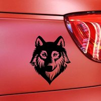 Atacado 10pcs / lot 15.3 * 12.8cm Carros de carro de animais Lobo Cabeça Car Styling Decals Car Race Car Vinyl Stylish Reflective Vinyl